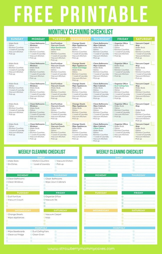 Maintain a Clean Home Printable Cleaning Schedule | Cleaning ...