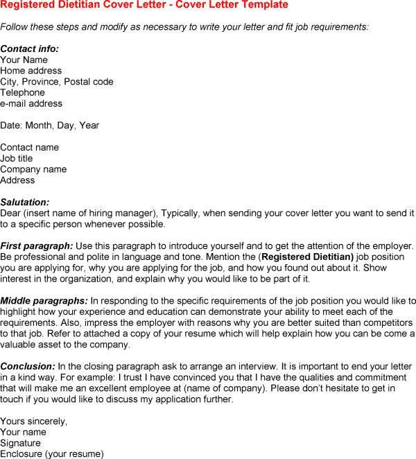Clinical Dietician Cover Letter 1 Clinical Dietitian Sample ...