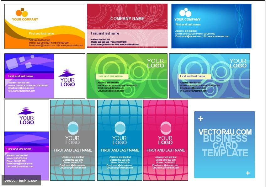 18 Excellent Templates for Business Cards   Business Card