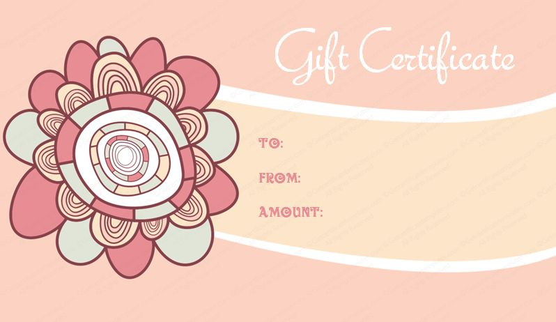 Artistic Gift Certificate Template