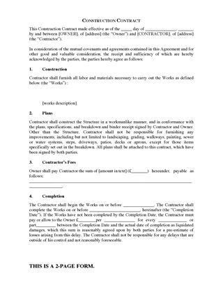 UK Construction Industry Forms | Legal Forms and Business ...