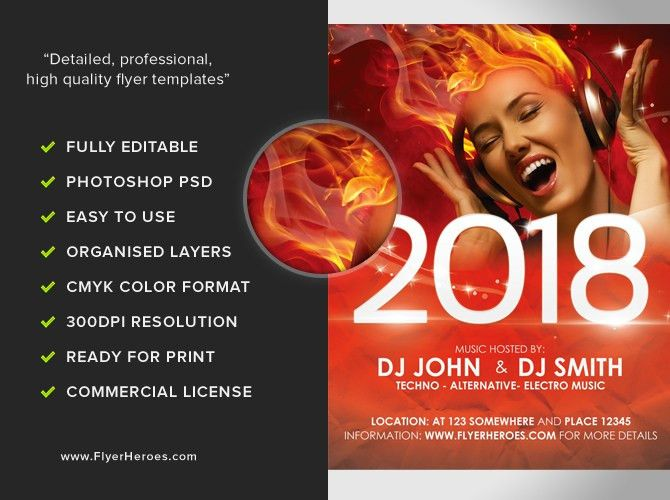 Free New Year's Eve Flyer Template Download