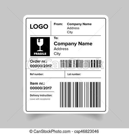 Vector Illustration of Shipping Label Set csp11463720 - Search ...