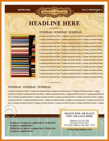 Microsoft Office Newsletter Templates.Antique Newsletter Template ...