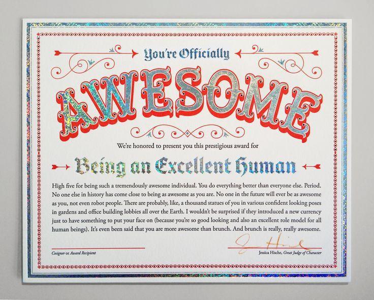 48 best Certificates & Awards images on Pinterest | Award ...
