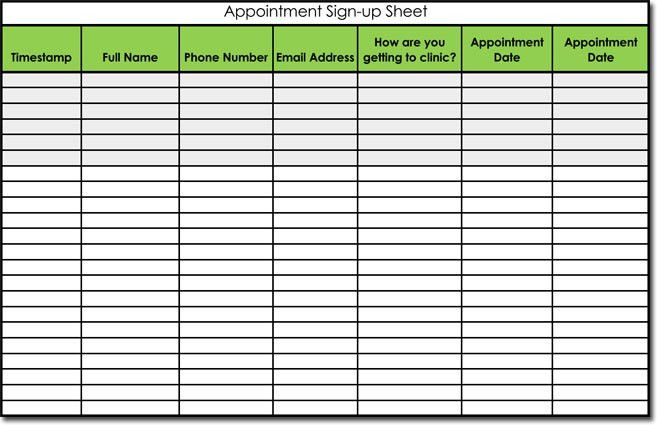 Signup Sheet Templates - 40 Sheets | 15 Types (Word & Excel)