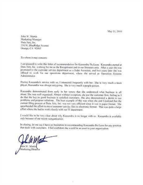 Sample Graduate School Recommendation Letter. Sample ...