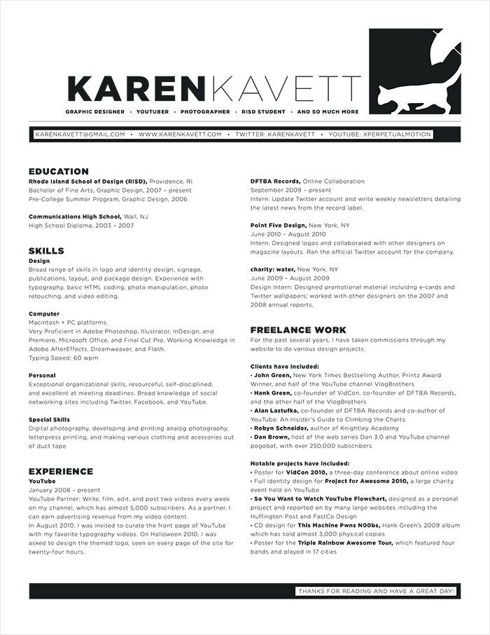 How to Design a Resume | Karen Kavett