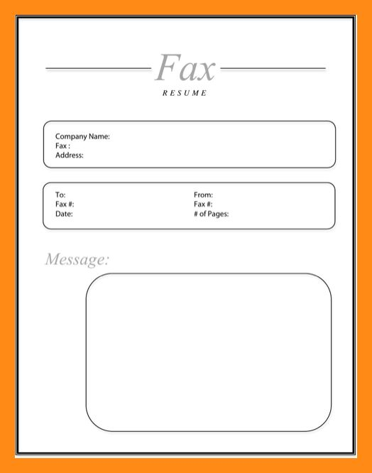 6+ fax cover sheet for resume | actor resumed