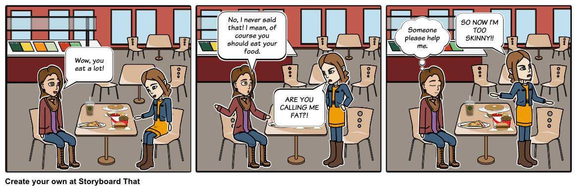 Strawman Fallacy Storyboard by jessicawang4224