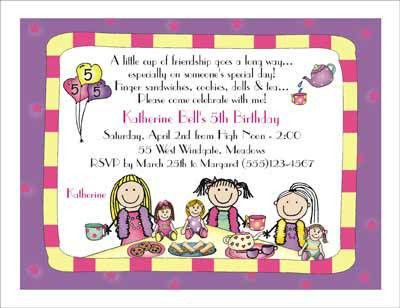 Tea Party Invitation Wording - plumegiant.Com