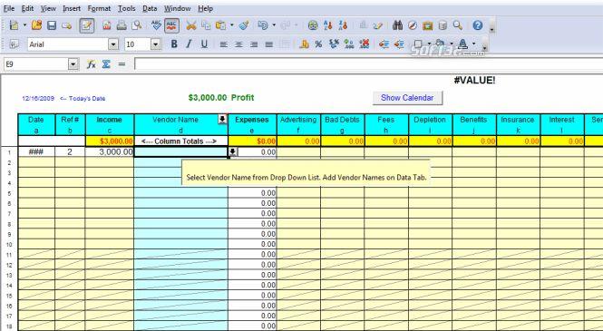 Download Profit Loss Report Spreadsheet 6.0
