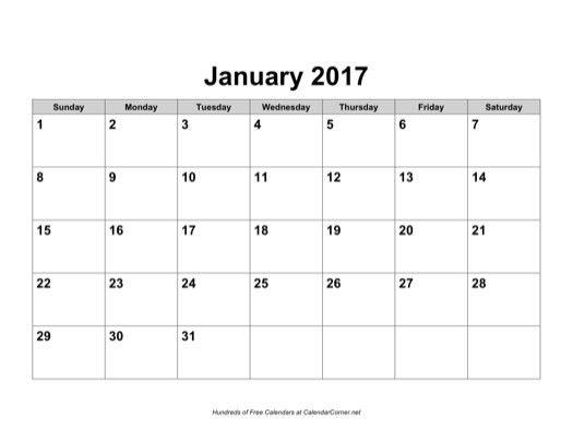 Microsoft Word Calendar Template 2017 | Calendar Picture Templates