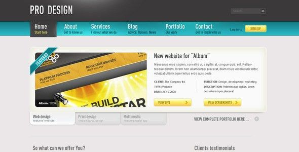 PRO Design - HTML Business Portfolio Blog Template by segen ...