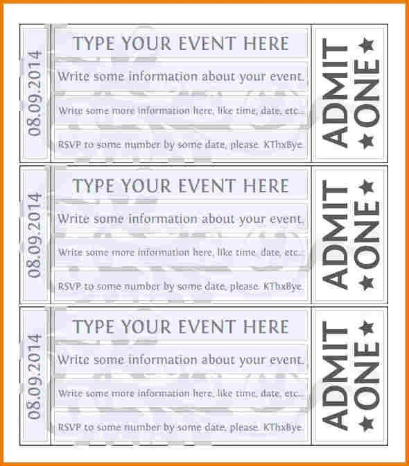 Free event ticket template | Authorization Letter Pdf