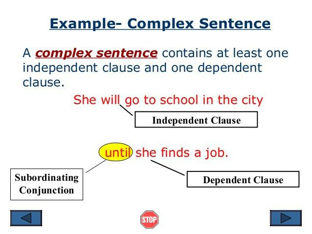 Independent clause and dependent clause