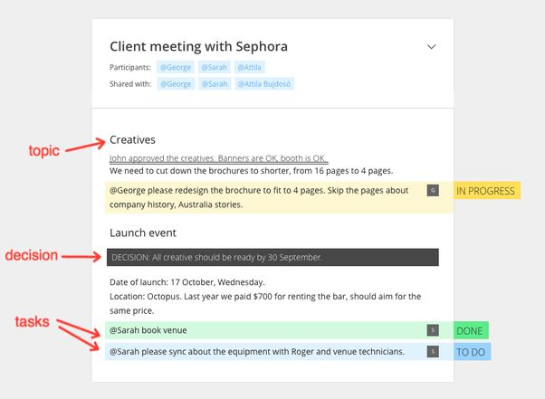 9 answers: The most effective way to format meeting minutes - Quora