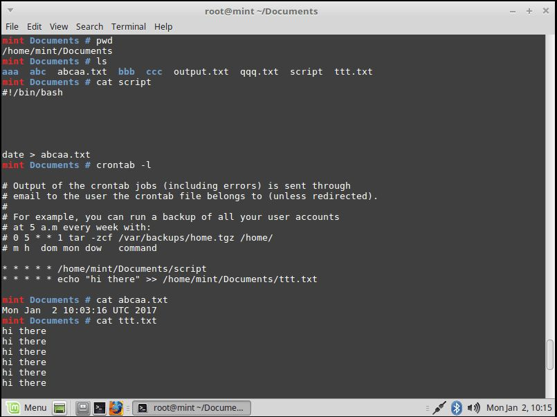 linux - How to run my bash script by crontab -e - Stack Overflow