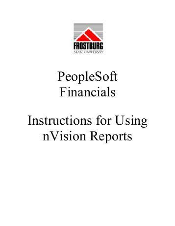 PeopleSoft nVision 8.x