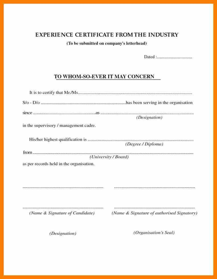 6+ format of work experience certificate | hostess resume
