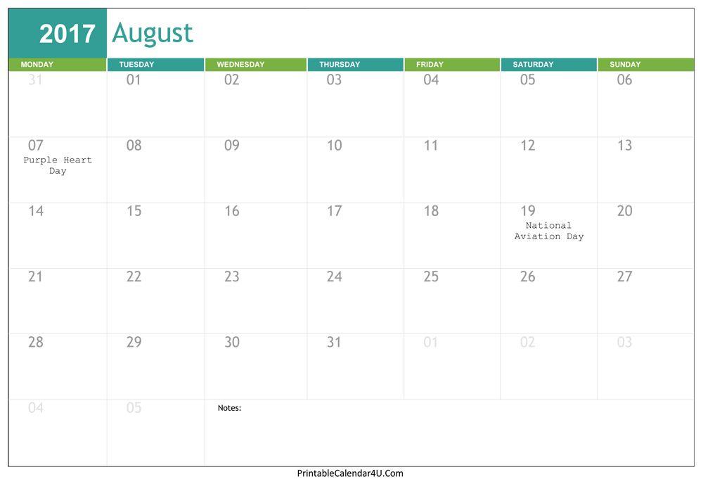 September 2017 Calendar Word | monthly calendar template