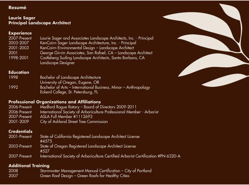 landscape architecture resume - Best Design Images of landscape ...