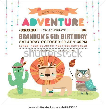 Kids Birthday Invitation Stock Images, Royalty-Free Images ...