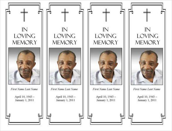 21+ Funeral Bookmark Templates – Free Sample, Example, Format ...