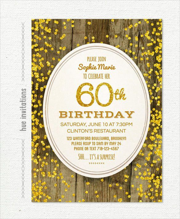 60Th Birthday Invitations - marialonghi.Com