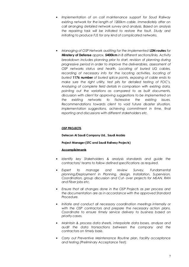 CV For OSP Planning & Design-Kumaran