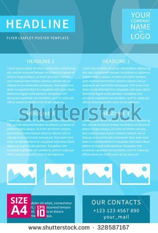 Vector Flyer Poster Leaflet Annual Report Stock Vector 330758246 ...