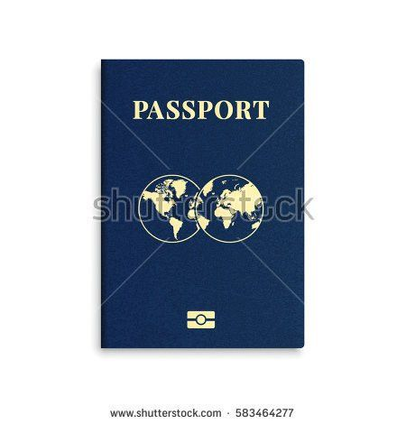 Vector International Passport Cover Template Stock Vector ...