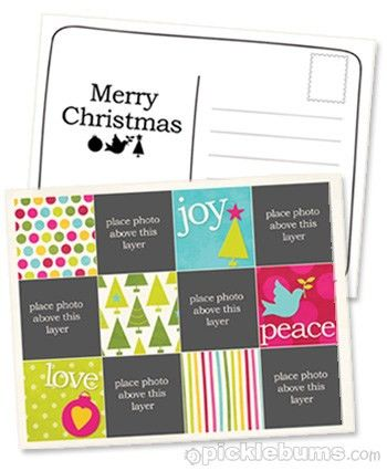 2011 Christmas Printable Series - Christmas Postcard Template ...