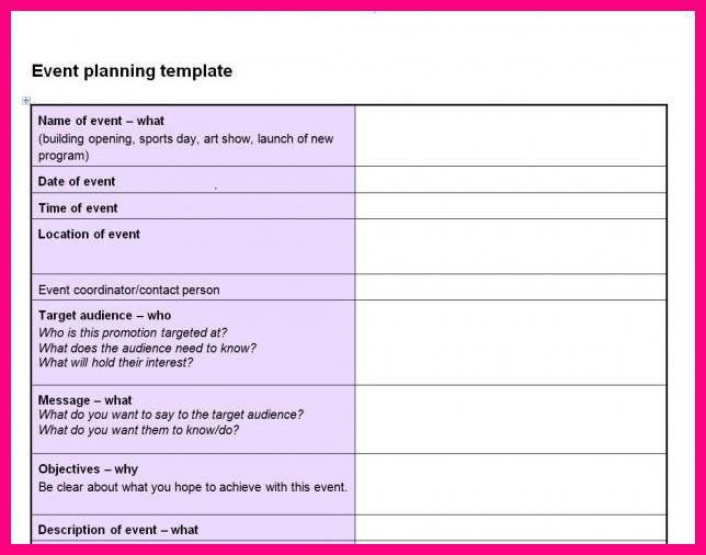 14 event planning excel template