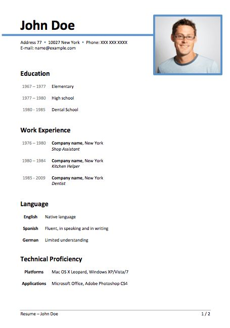 Various Resume Formats - Resume Sample