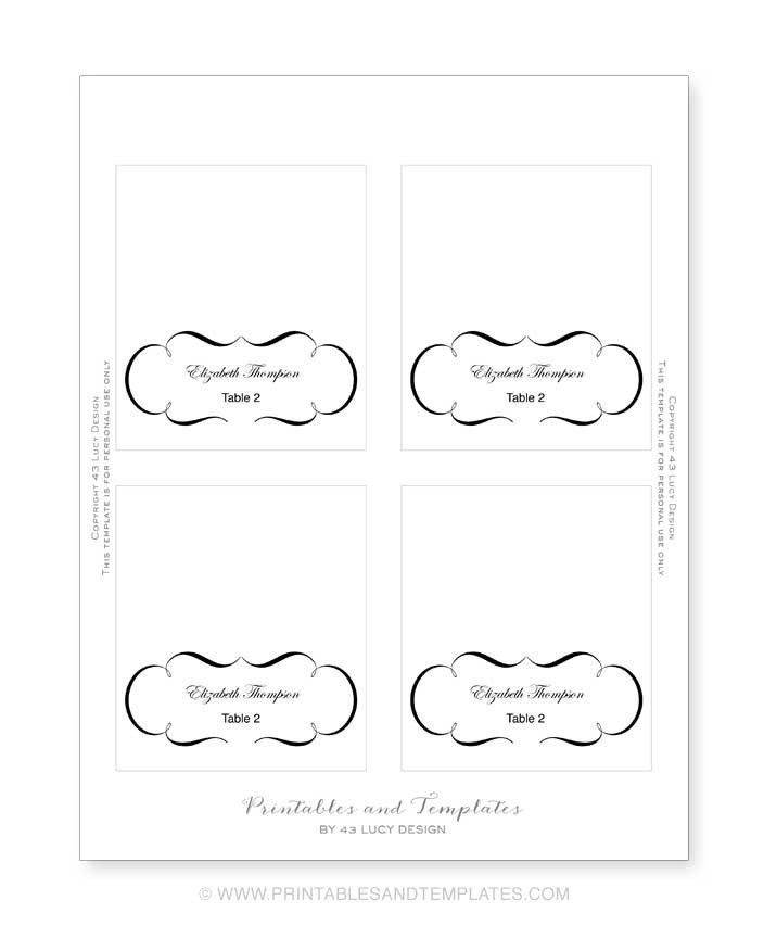 Printable Place Cards Template | shareitdownloadpc