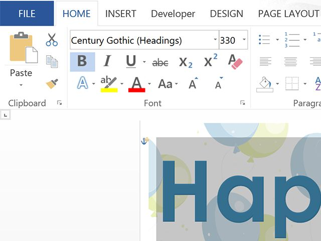 How To Create A Bunting Banner In Word JustAGirlAndHerBlogcom ...