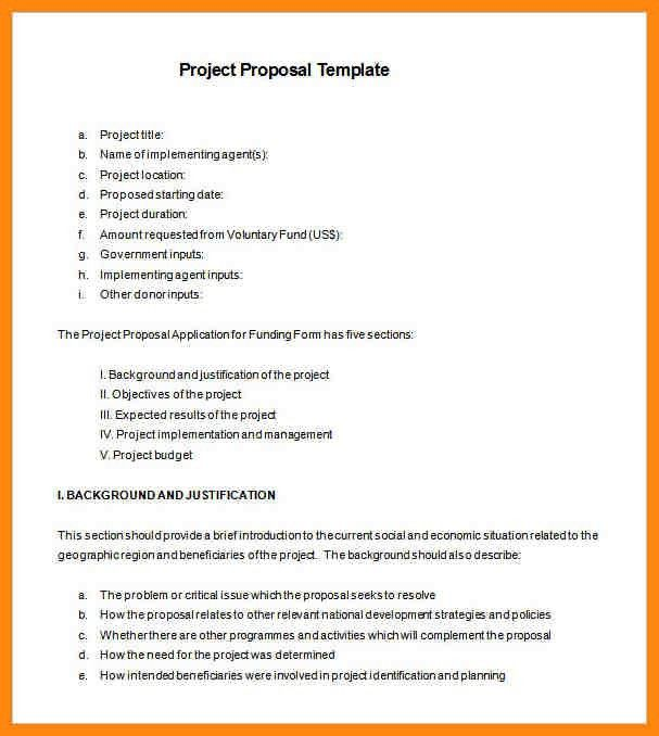 Funding Proposal Template. Sponsorship Letter Template 05 40+ ...