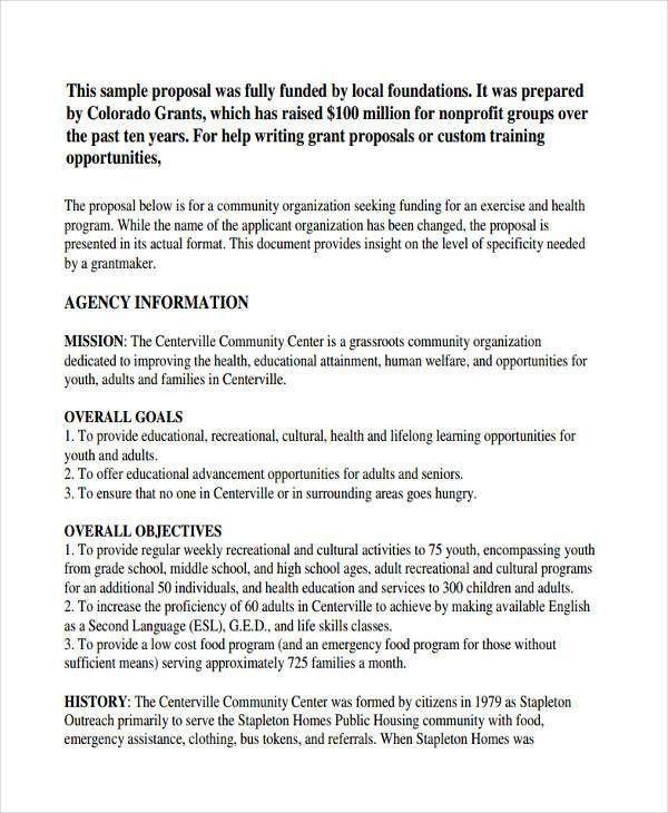 6+ Non-Profit Proposal Examples, Samples