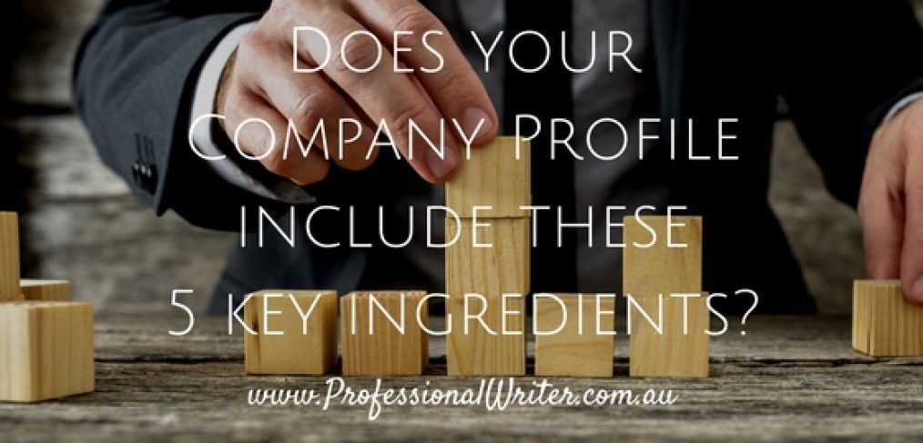 How to write an Engaging Company Profile - The Professional Writer
