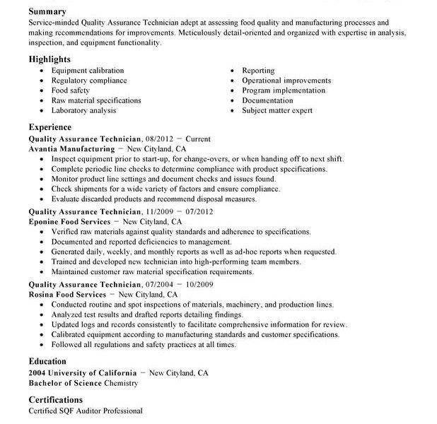 Super Cool Quality Control Resume 2 Unforgettable Quality ...