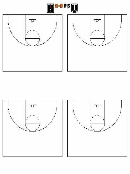 Basketball Court Diagrams   Printable Basketball Court Templates ...