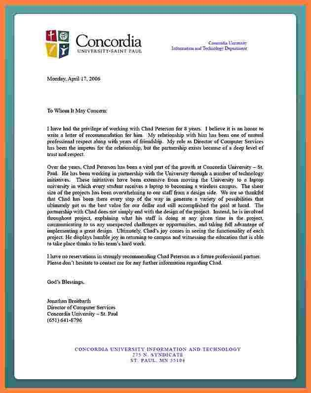 8+ how to write a reference letter for a student for university ...