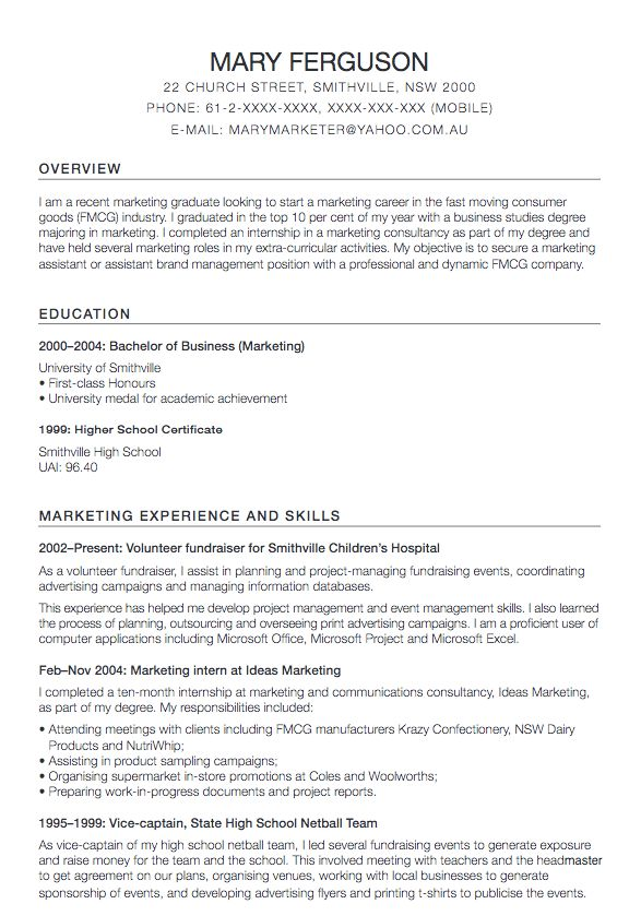 Marketing Assistant Resume Templates - RESUMEDOC