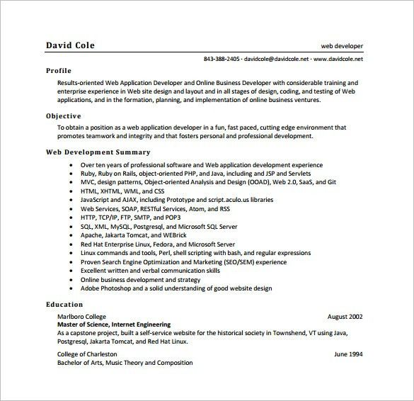Resume samples of software engineer fresher