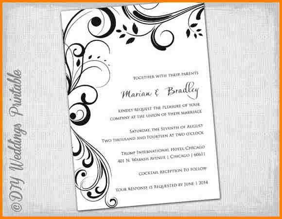 11+ free invitation templates for word | artist resume