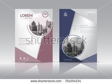 Cover Design Annual Report Cover Flyer Stock Vector 683812828 ...
