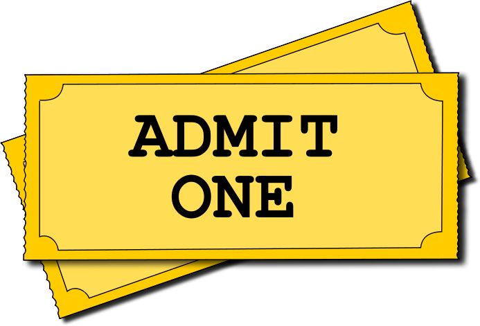 Admit one ticket template | Clipart Panda - Free Clipart Images