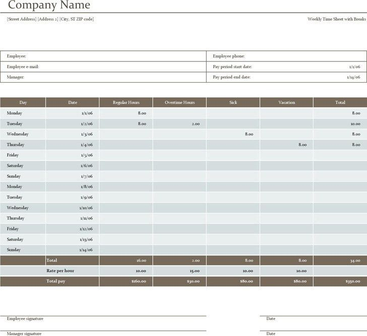 Blank Timesheet Template. Staff Timesheet Template 39+ Timesheet ...