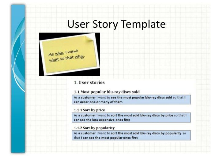 User stories & relative estimation